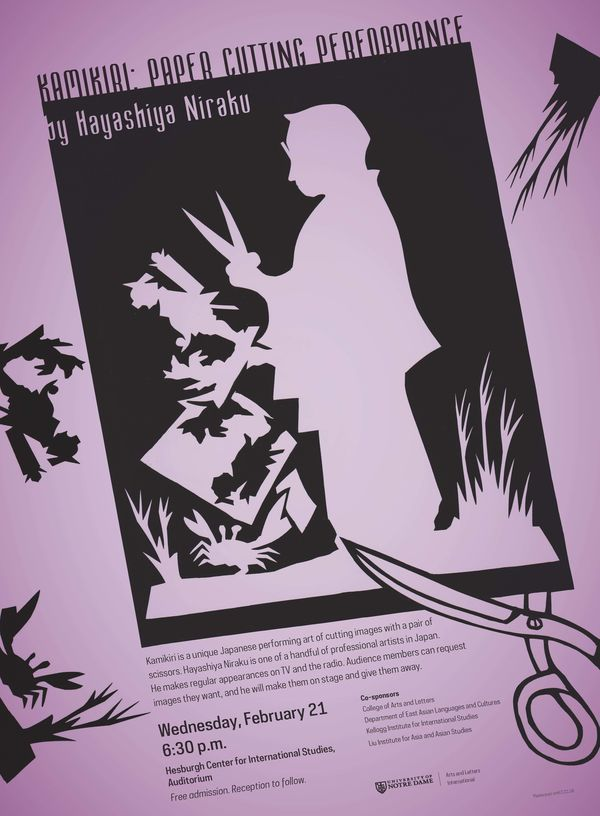 Japanese Paper Cutting Poster Rev 1