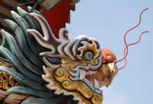 dragon on chinese temple